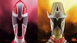 Power Rangers Ninja Steel - Red and Gold Ranger Morph and Roll Call | Superheroes