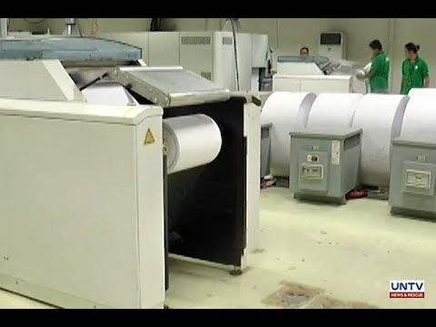 Comelec, nag-inspeksyun sa National Printing Office para sa nalalapit na pag-imprenta ng mga balota