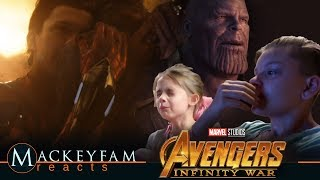 MARVEL'S INFINITY WAR ENDING AT HOME REACTION!!!