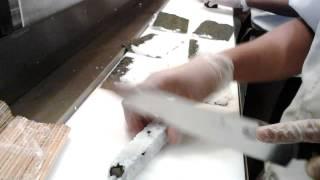 Making maki sushi