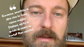 Francesco Facchinetti: Italiani, ma avete capito o no che dovete stare in casa?