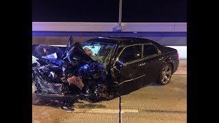 911 call: Wrong-way crash closes NB lanes of Howard Frankland Bridge