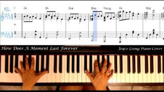 Celine Dion - How Does a Moment Last Forever - Piano cover & Sheets