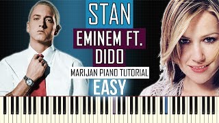 How To Play: Eminem ft. Dido - Stan   Piano Tutorial EASY
