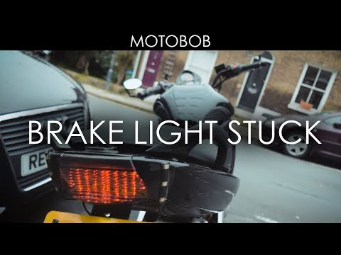 Fixing A Stuck/Sticky Motorcycle Brake Light Switch