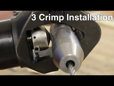 Cable Pull 3 Crimp Installation