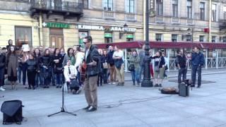 музыканты на Невском. (Пятница. Я солдат) 10.02.15
