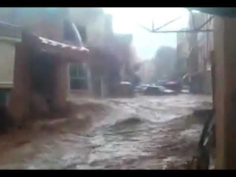 Footage of flooding in Khenifra Morocco 24/08/2011 – Innondations Maroc.