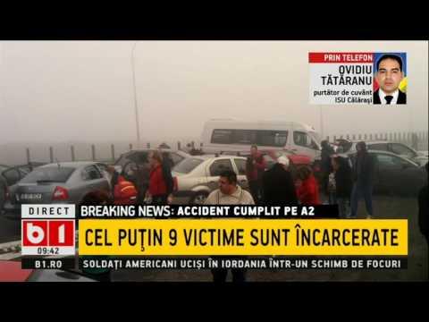 Accident GRAV cu zeci de mașini pe A2