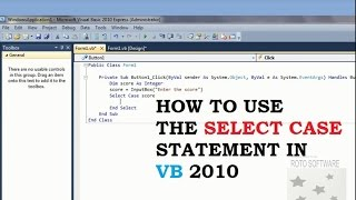 How to Use Case Statement in Vb 2010 width=