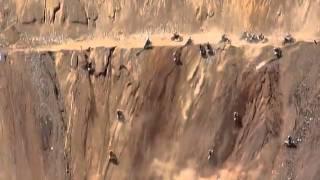 Motocross mountain climbing
