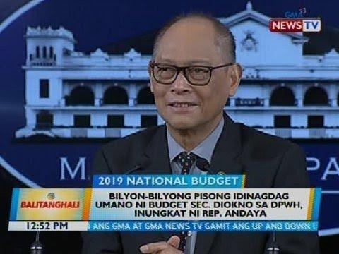 Bilyon-bilyong pisong idinagdag umano ni budget Sec. Diokno sa DPWH, inungkat ni Rep. Andaya