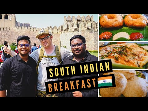 SOUTH INDIAN BREAKFAST Feast + Tour of Historic GOLCONDA FORT in HYDERABAD, India