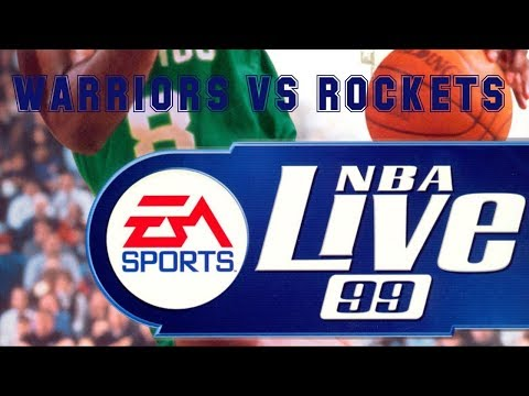 NBA Live 99 (1998) - PC - Warriors vs Rockets
