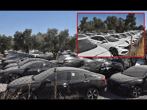 Sıfır Otomobillerde 'Stokçuluk' İddiası! Yüzlerce Otomobil Böyle Görüntülendi, Vatandaş İsyan Etti