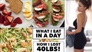 WHAT I EAT IN A DAY to lose weight | healthy low carb meals | Taylor Bee