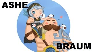 Paródia League of Legends - Radioactive - Ashe e Braum