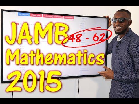 JAMB CBT Mathematics 2015 Past Questions 48 - 62