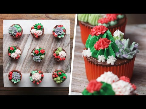 Succulent Cupcakes For Your Next Summer Bash ? Tasty