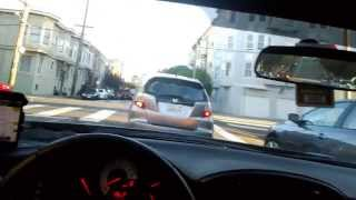 A September drive through San Francisco at dusk