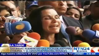 En Venezuela difieren audiencia preliminar de Antonio Ledezma y Manuel Rosales