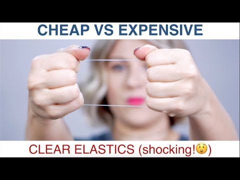 CLEAR ELASTICS – Cheap vs EXPENSIVE (shocking results!)