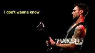 Maroon 5 – Don't Wanna Know feat  Kendrick Lamar [LYRICS VIDEO]