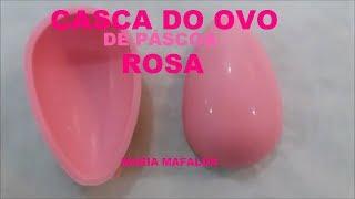 Ovo de Páscoa Caseiro Casca de ovo de páscoa rosa /Maria Mafalda