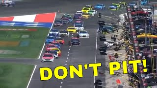 Don't pit, don't pit!