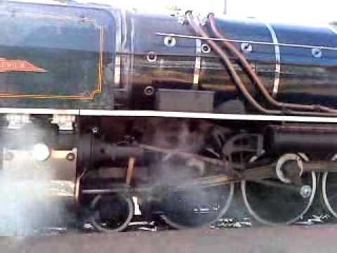 "Rovos Rail's Locomotive ""King Zog"" at Capital Park Station, Pretoria, South Africa"