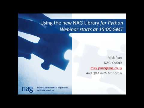 Getting started with the new NAG Library for Python