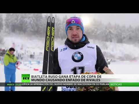 Biatleta ruso triunfa tras dos años suspendido por dopaje y provoca el enojo de sus rivales