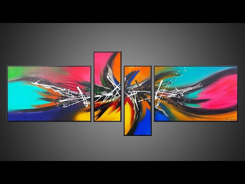 Abstract Painting techniques Acrylic | Satisfying | Nucleus