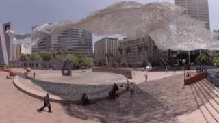 Massive, moving 'Liquid Shard' sculpture at Pershing Square