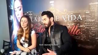 """David Zepeda y Ariadne Díaz en el press junket de """"La Doble Vida de Estela Carrillo"""""""
