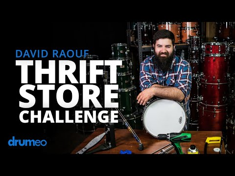 Thrift Store Drumming Challenge - David Raouf