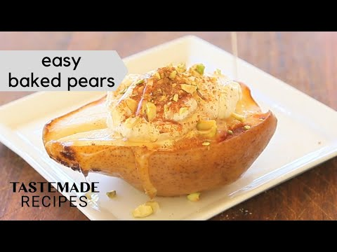 Easy Baked Pears with Mascarpone Cream