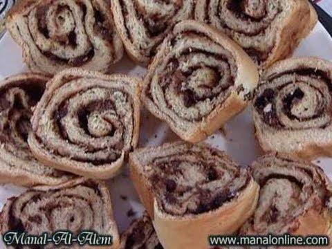 مطبخ منال العالم حلويات رول الحلاوة الطحينية