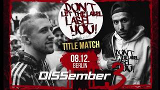 DLTLLY // TITLE MATCH // DISSember3 ANNOUNCEMENT // 08.12.2018