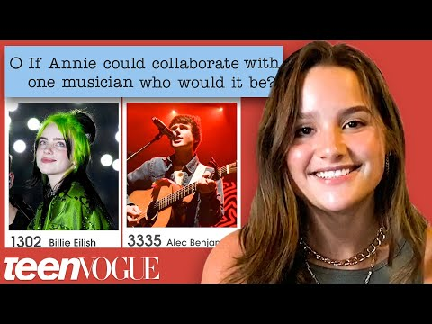 Annie LeBlanc Guesses How 9,800+ Fans Responded to a Survey About Her | Teen Vogue