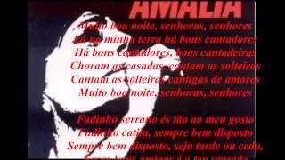 Amália Rodrigues-Fadinho Serrano-Áudio com letra