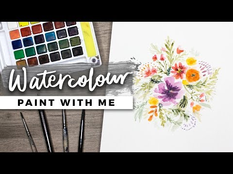 PAINT WITH ME | Playing with Watercolor!