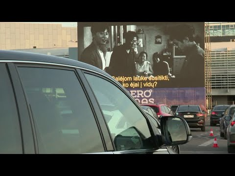 Coronavirus: Vilnius airport turned into drive-in cinema photo