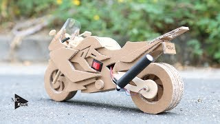 How to make Toy Motocycle(BMW F800GT) - Amazing Cardboard DIY width=