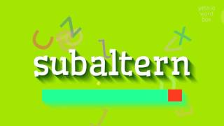 "How to say ""subaltern""! (High Quality Voices)"