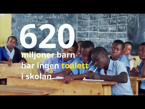 620 miljoner barn saknar skoltoalett!