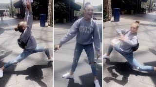 Maddie Ziegler Dancing Outside A Shopping Mall | Full Video