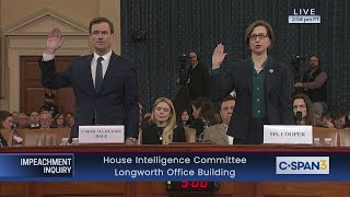 House Impeachment Inquiry Hearing - Cooper & Hale Testimony