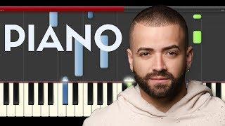 Nacho Bailame  Piano midi tutorial sheet partitura cover app karaoke