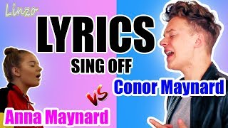 Havana by camila cabello  I SING OFF (Conor Maynard vs. Anna Maynard) (LYRICS)